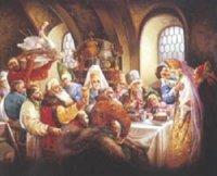Старинная русская свадьба.