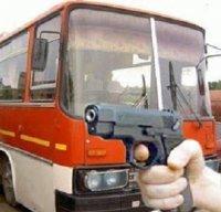 Водитель расстрелял пассажирский автобус