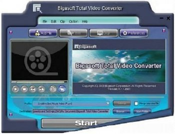 Bigasoft Total Video Converter v1.7.1.3581